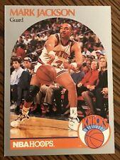 MARK JACKSON NY NEW YORK KNICKS 1990-91 NBA HOOPS BASKETBALL CARD #205 MENENDEZ