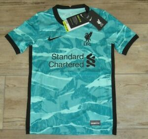 Authentic Nike Liverpool FC Away 2020-21 Dri-FIT Soccer Jersey size Youth Small