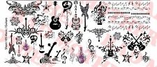 1/6 Scale Custom Tattoos: Music and Guitars pack - Waterslide Decals