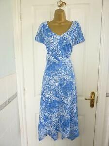 LADIES SIZE UK 14 RONNI NICOLE BLUE WHITE LACE SUMMER OCCASION DRESS WEDDING