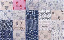 200 Metre Indian Wholesale Lot Hand-Block Print Fabric Cotton Dressmaking Sewing
