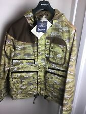 NWT Barbour X White Mountaineering Parka Stone Wave Print Dead Stock 745$ XLarge