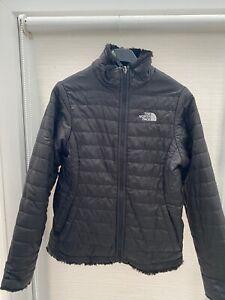 Girls North Face warm reversible jacket size Medium Age 9-10 100% Genuine
