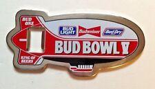 Vintage Bud Bowl V Budweiser Zeppelin Super Bowl Collectible Bottle Opener