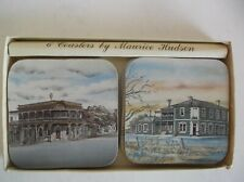 VINTAGE MAURICE HUDSON DRINK COASTERS - SET OF SIX - MADE IN AUSTRALIA