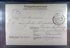 Camp Stalag XIA Altengrabow 1944 POW Prisoner Belgium Kriegsgefangenenpost L50a