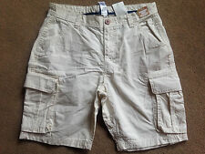 NEXT Boys Cream Combat Shorts Adjustable Waist 16 Years