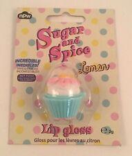 SUGAR AND SPICE Lemon Cupcake Lip Gloss 2 gm Lemon Flavored Lip Balm Novelty