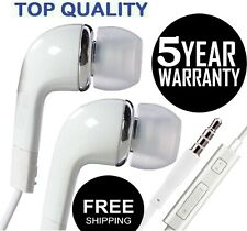 Fit With Samsung Headphones Earphones Earbud Handsfree Wired with Mic-White