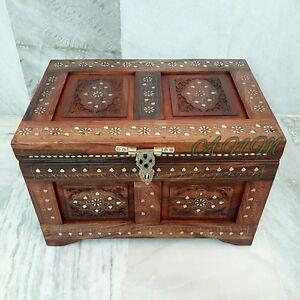 Wooden Box Treasure Pirate Chest Collectible