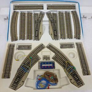LU Marklin M Series 2 Dozen Track & Switches 5141/2 & 5221/2 Excellent