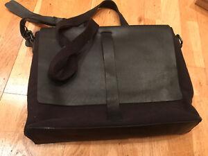 Mens Laptop Messenger Leather Bag