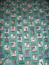 Vintage Green NFL Twin Flat Sheet. Pictures of NFL TEAMS in 80's BIBB Co USA