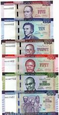 SET, Complete, Liberia 5;10;20;50;100;500 dollars 2016, P-New, Redesigned UNC