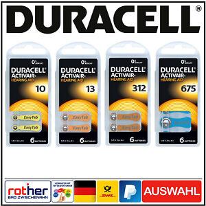 Duracell Activair Hörgerätebatterien Typ 10 l 13 l 312 l 675 Auswahl