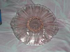 Vtg Pink Depression Glass Old Cafe Bonbon Dish by Anchor Hocking