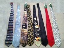 Exquisite Assortment of 8 New Silk Ties with Tags
