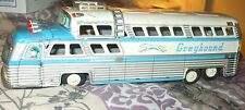 "1950's Vintage Japanese Tin Friction Toy #2570 12"" Greyhound Sceniccruiser Bus"
