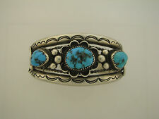 Sterling silver turquoise bracelet unsigned
