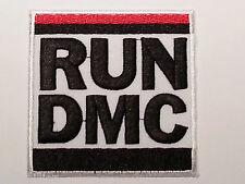 ROCK PUNK METAL MUSIC SEW / IRON ON PATCH:- RUN D.M.C. HIP HOP (a) WHITE & BLACK