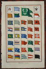"Bandiere Nautica ""Bandiere di Marina"" Diderot D'alambert 1771"