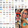 Vintage Fashion Women Kaleidoscope Oversize Square Cat Eye Gradient Sunglasses
