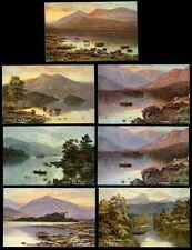 GB PPCs c1906 ARTIST E LONGSTAFFE...SCOTLAND...7 CARDS