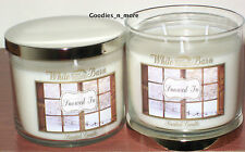2 New Bath & Body Works White Barn SNOWED IN 3-Wick Scented Candles