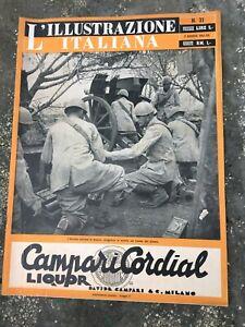 RIVISTA L'ILLUSTRAZIONE ITALIANA N31 2 AGOSTO 1942  WW2 COLLEZIONE WAR MAGAZINE