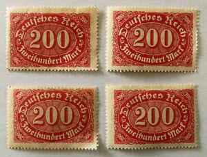 German Deutsches Reich 200 Mark Stamp 1923