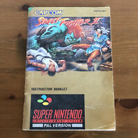Street Fighter 2 Instruction Manual / Booklet Only Super Nintendo SNES
