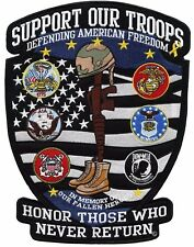 """US Military Shield Army Navy Marines Vet Large Motorcycle Jacket Vest Patch 12"""""""