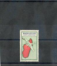 MADAGASCAR Sc C25D(YT A29a)**VF NH 1942 2F GREEN+BLUE, VALUE OMITTED ERROR $150