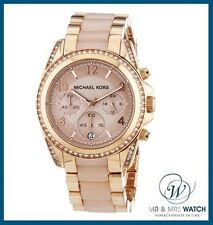 Brand NEW Ladies Michael Kors Blair Rose Gold Chronograph Watch-MK5943-RRP £279