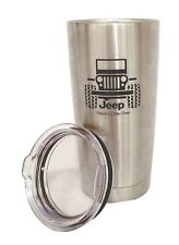 JEEP WRANGLER STAINLESS STEEL TUMBLER ENGRAVED THERMOS TRAVEL MUG YETI