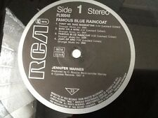 JENNIFER WARNES Famous Blue Raincoat GERMAN 1987 RCA Played