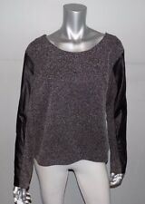 LANE BRYANT NEW Gray/Black Textured Faux Leather Long Sleeve Shirt sz 28 28W