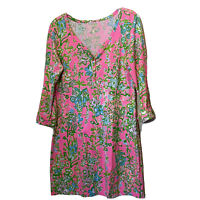 Lilly Pulitzer Women's Size Medium Dress Palmetto Pink Southern Charm Floral