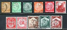 Germany Postage Stamps Scott 436-450, 11-Stamp Used Selection!! G1739a