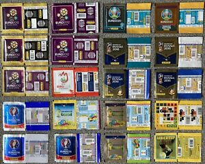 Panini Sticker Packet Collection 20x Various Editions And Prints Euro 2020 etc.