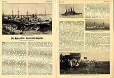 Die Kriegsflotte Oesterreich-Ungarns Hafen von Pola Turmschiff Monarch Kr...1905