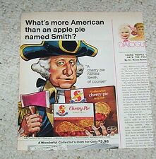 1970 print ad -Mrs Smith's Cherry Pie George Washington art artwork Pottstown PA