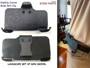 SlipGrip Holster Belt Clip Custom Made For Phone With The Protective Case On