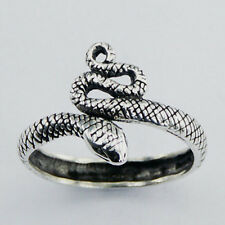 USA Seller Snake Ring Sterling Silver 925 Best Deal Plain Jewelry Size 8