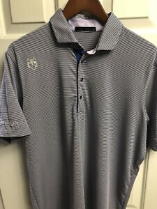 Men's Greyson Golf Saranac Polo Tour Logos Size L, Orchid, Excellent 🔥