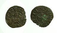 pcc1656_18) Filippo di Taranto (1294-1313) denaro tornese Lepanto NЄPANTI CIVIS