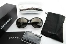 CHANEL Sonnenbrille 5211 H c1283 57[]19 135 Black Glitter Pearl Italy c2011+Case