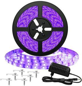 Onforu Kit de 5M UV Ruban LED, Bande LED Lumière Noire, 12V Bandeau LED...