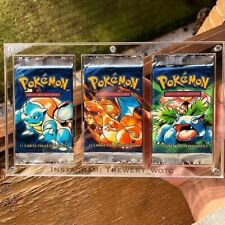 Clear Plexiglas case for 3 Pokemon Booster Pack UV RESISTANT ! Protection
