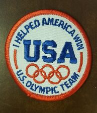 "1980's USA America Olympic Rings Patch 3"" I Helped America Win US Olympic Team"